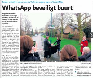 VAR NIEUWS WhatsApp wordt steeds vaker gebruikt voor wijkcommunicatie