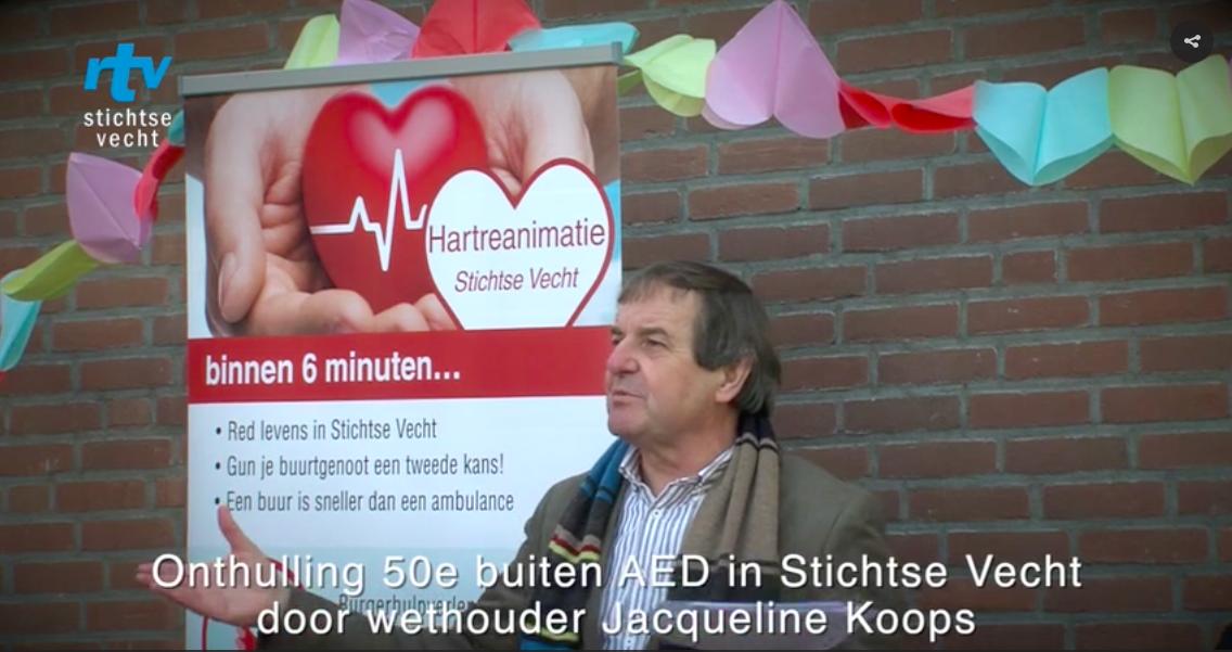 RTV Stichtse Vecht: Vijftigste buiten AED in Stichtse Vecht feestelijk onthuld