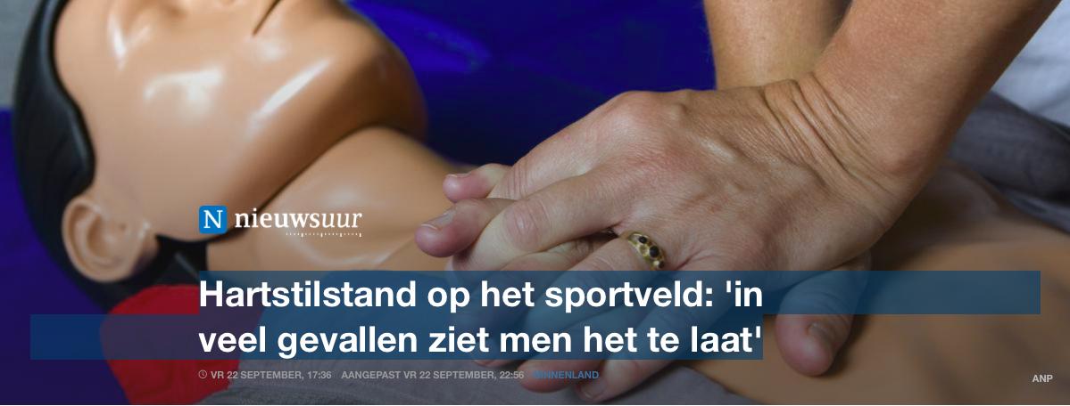 NOS: Hartstilstand op het sportveld: 'in veel gevallen ziet men het te laat'