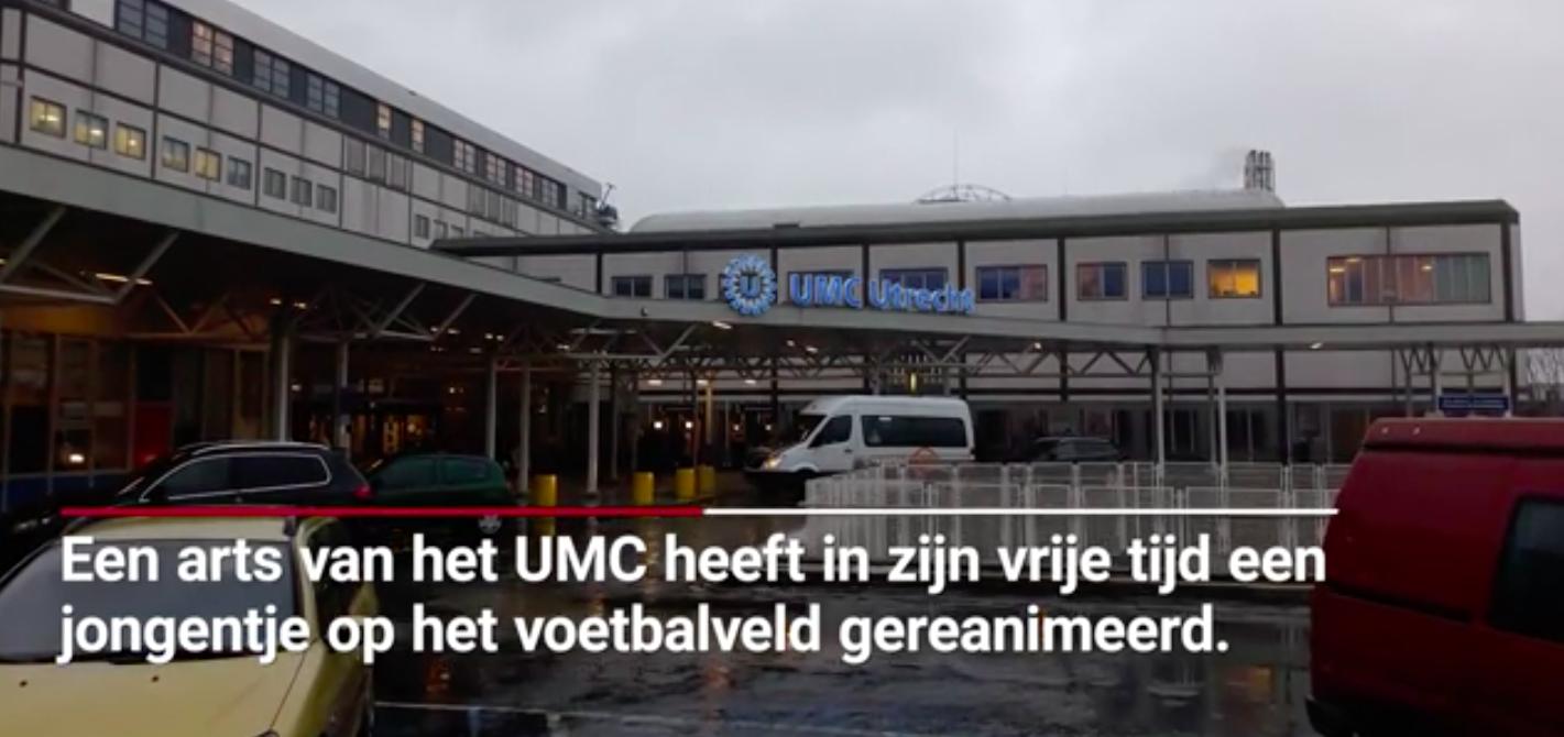 AD: Utrechtse arts na reanimatie voetballertje: 'Het heftigste dat ik ooit heb meegemaakt'