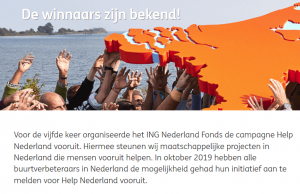 Grote prijs voor Hartreanimatie Stichtse Vecht bij Help Nederland Vooruit